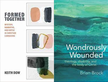 Book covers featured side-by-side: Formed Together and Wondrously Wounded